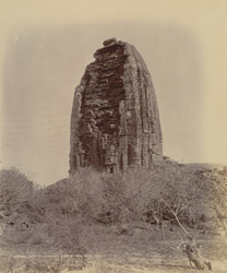 Rear view of the Gadarmal Temple, Pathari, Bhopal State.